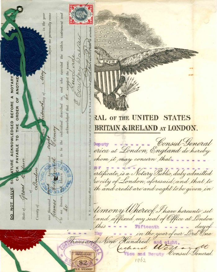 Consulate General of the USA for Great Britain & Ireland - SOLD