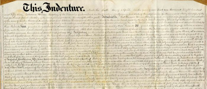 Deed for the purchase of Land