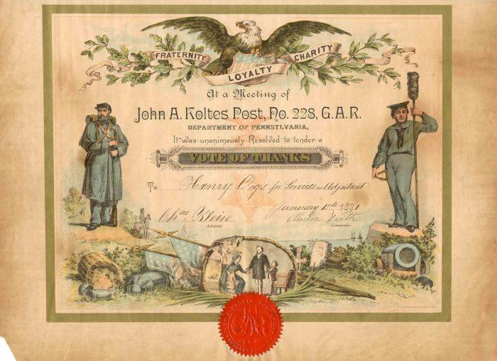 John A. Koltes Post, No. 228, G.A.R.