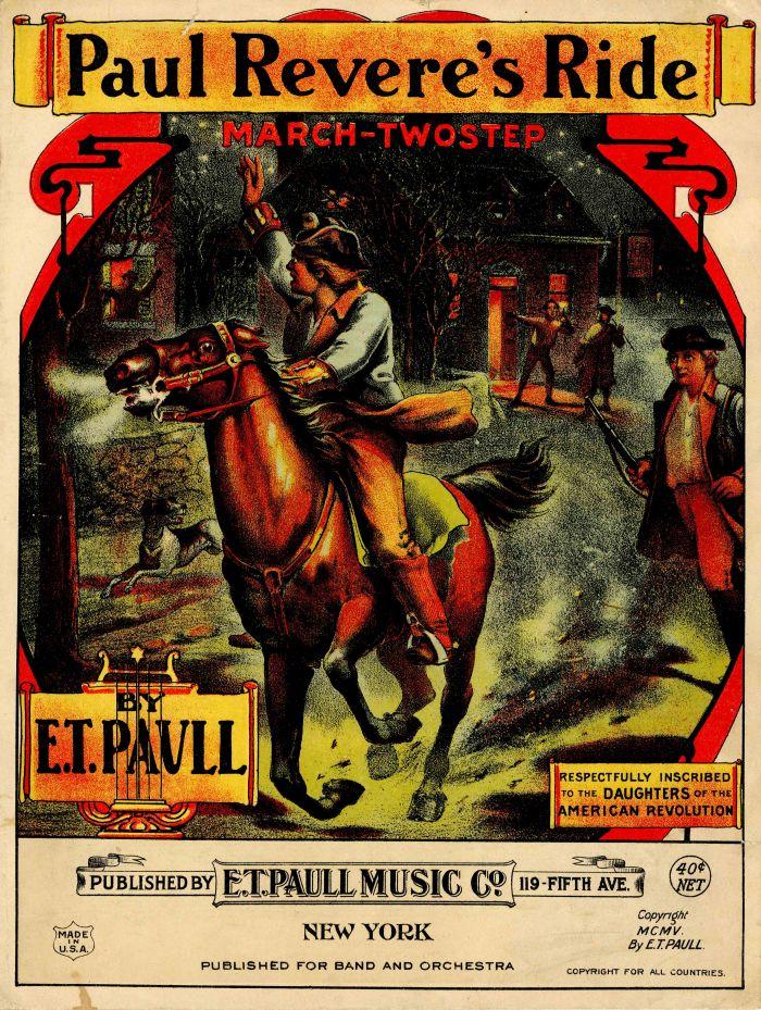 Paul Revere's Ride Music Sheet