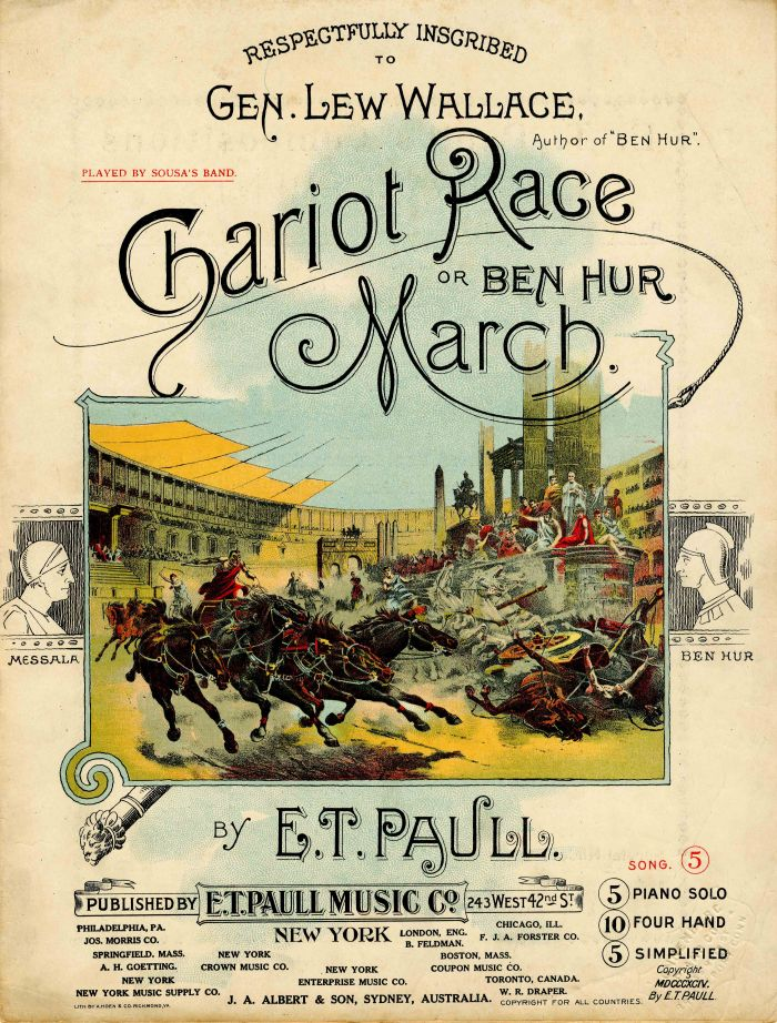 Chariot Race Music Sheet by E. T. Paull