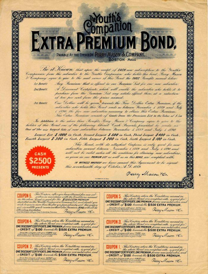 Youth's Companion Extra Premium Bond