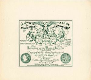 Exhibition of the Works of Industry of all Nations - Crystal Palace Exhibition Certificate - SOLD