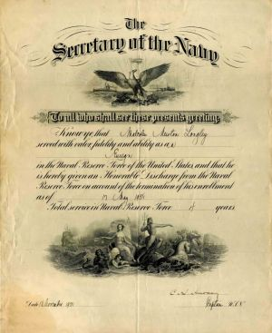Honorable Discharge from the Secretary of the Navy