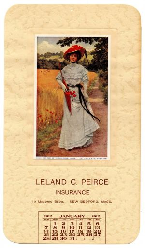 Ad Calendar for Leland C. Peirce Insurance