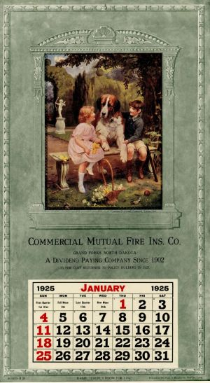 Ad Calendar for Commercial Mutual Fire Ins. Co.