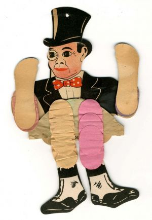 Charlie McCarthy Paper Puppet