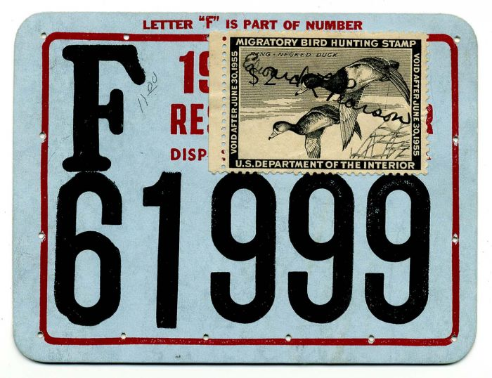 Hunters License with Duck Stamp - Americana