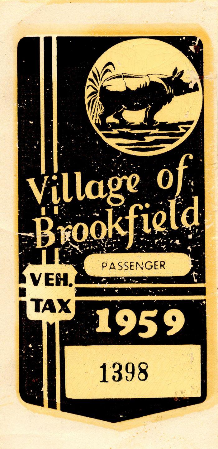 Vehicle Tax Card - Americana