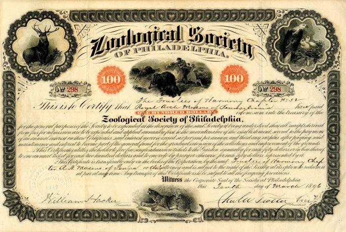 Zoological Society of Philadelphia -$100