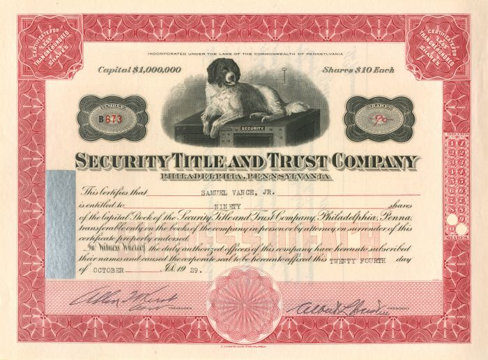 Security Title and Trust Company