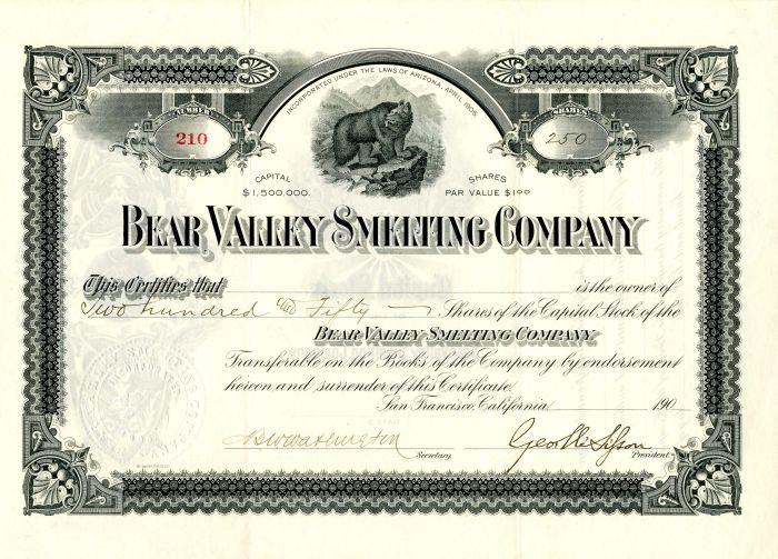 Bear Valley Smelting Company