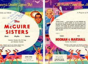 Program from the Desert Inn signed by the McGuire Sisters