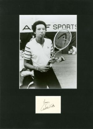 Portrait signed by Arthur Ashe - SOLD