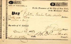 Payment Order signed by Wm. Pauldine