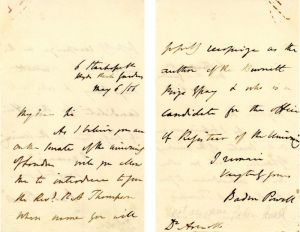 Autographed Letter signed by Baden Powell - SOLD