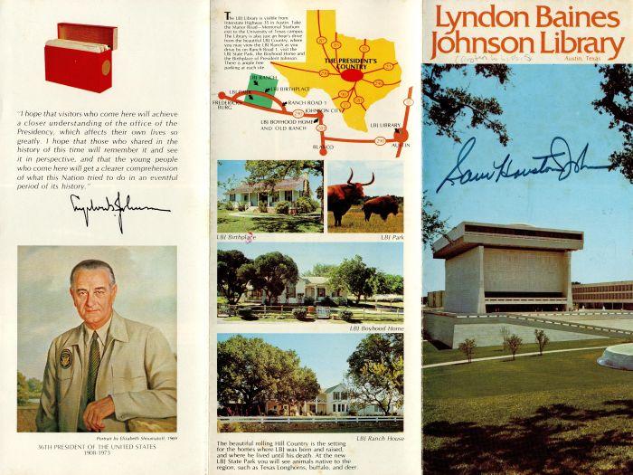 Sam Houston Johnson autographed Brochure