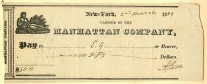 Aaron Burr signed check  - SOLD