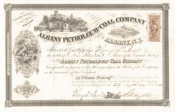Albany Petroleum and Coal - Stock Certificate