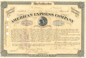 American Express Company signed by J. C. Fargo