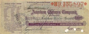 Paul Von Hindenburg signs this American Express Travelers Check - SOLD