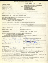 "Jimmy Stewart Signed Contract- ""Julie Andrews Hour"""