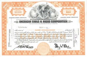 American Cable & Radio Corp - 50 Pieces
