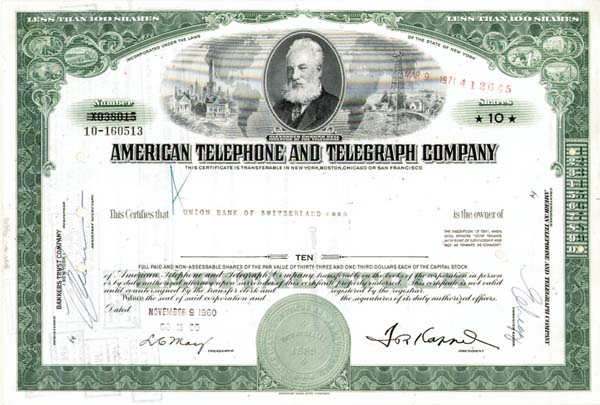 American Telephone & Telegraph - 50 Pieces