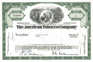 American Tobacco Co. - 100 Pieces - Stock Certificate
