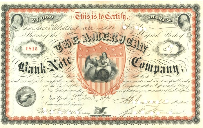 American Bank Note Company - Extremely Rare