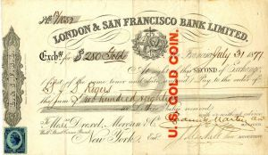 London & San Francisco Bank Limited
