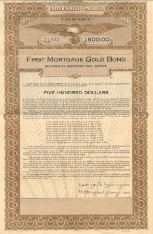 First Mortgage Gold Bond - $500