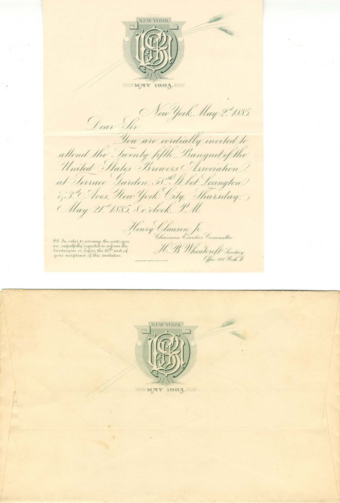 Brewers Association Invitation - SOLD