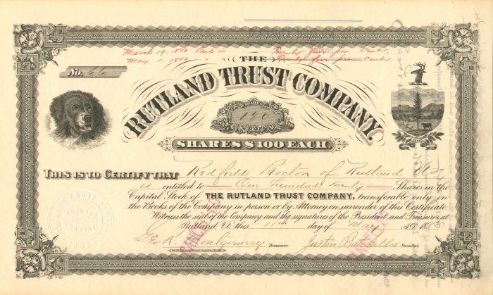 Rutland Trust Company