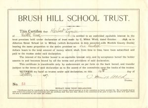 Brush Hill School Trust - Bond