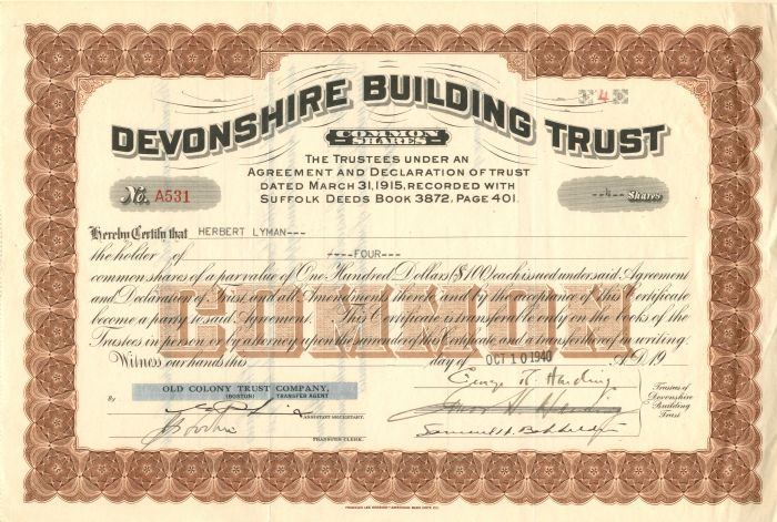 Devonshire Building Trust