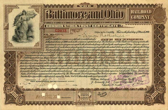 Baltimore and Ohio Railroad Company - SOLD