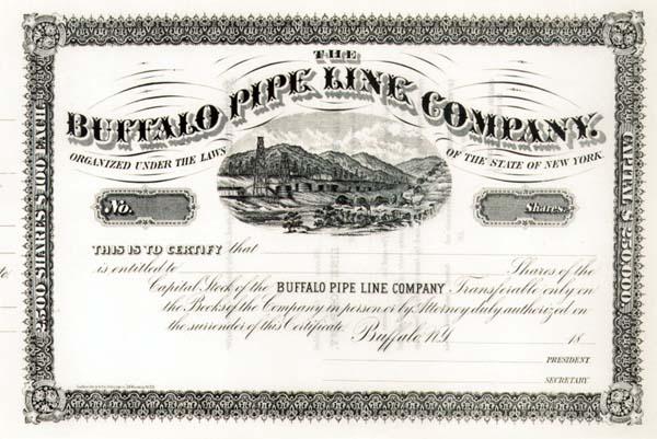 Buffalo Pipe Line Company - Stock Certificate