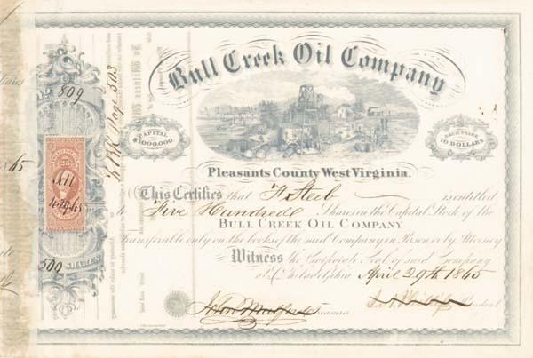 Bull Creek Oil Company - Stock Certificate
