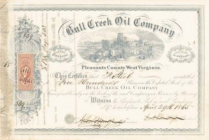 Bull Creek Oil Company - Stock Certificate
