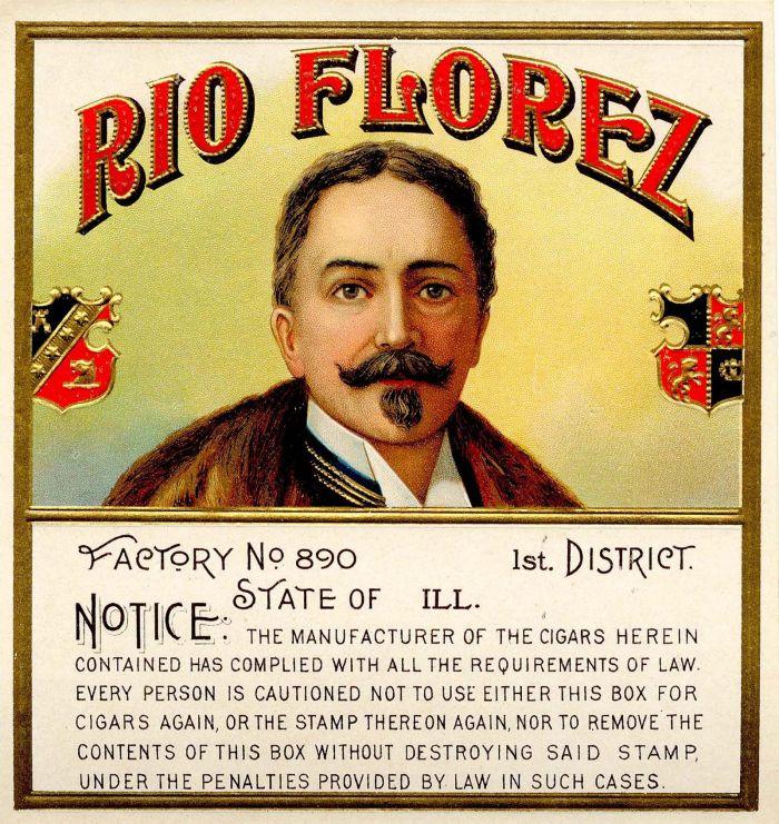 Rio Florez - Cigar Box Label