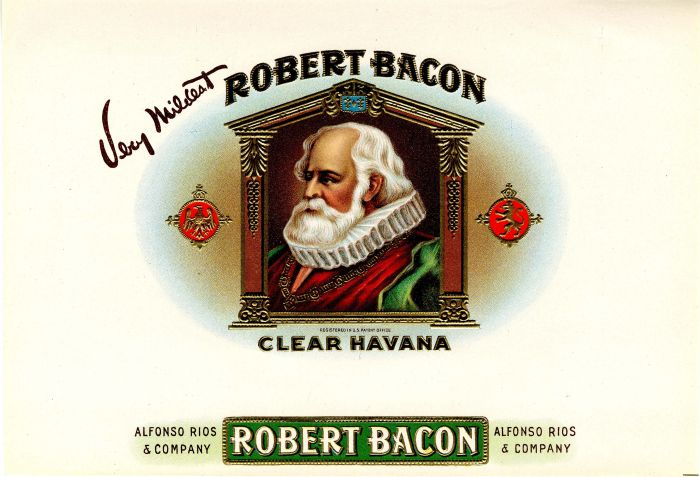 Robert Bacon - Cigar Box Label