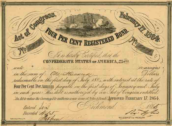 $100 Confederate States of America