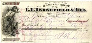 Banking House of L.H. Hershfield & Bro. - SOLD