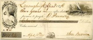 Check from 1848 - SOLD