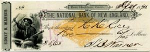 Check from 1886 - SOLD