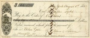 Check from 1842 - SOLD