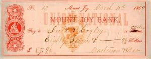 Union National Mount Joy Bank - Check