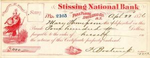 Stissing National Bank - Check