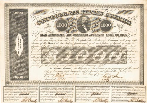 Civil War $1,000 Bond - CR-138